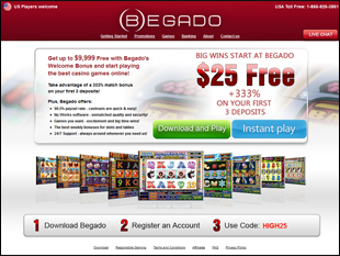 begado online casino no deposit bonus codes