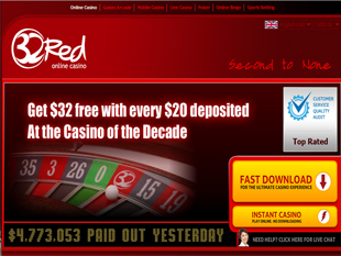 32Red Casino Home