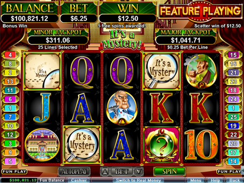 free It's a Mystery! Free Spins Feature