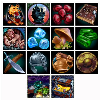 free Goblin's Treasure slot game symbols