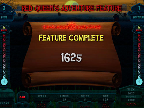 free Alaxe in Zombieland slot red queen's adventure total prize