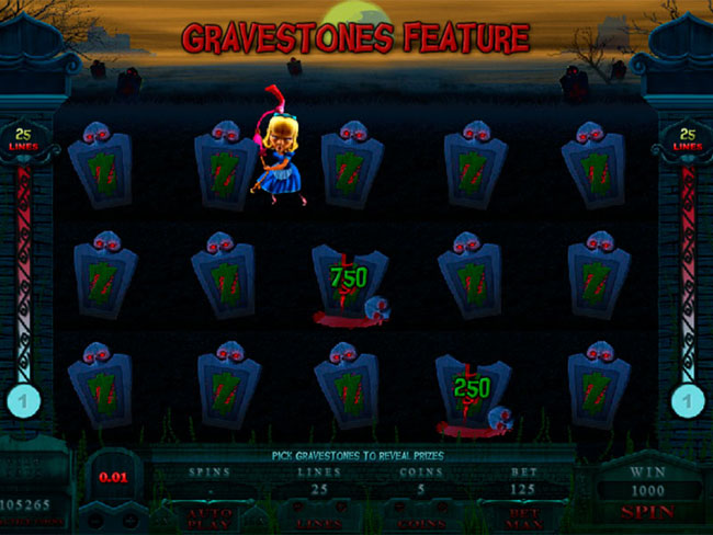 free Alaxe in Zombieland slot bonus feature