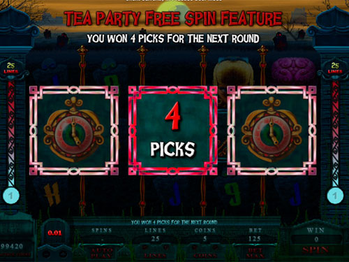 free Alaxe in Zombieland slot number of picks revealed
