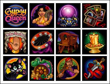 free Gypsy Queen slot game symbols