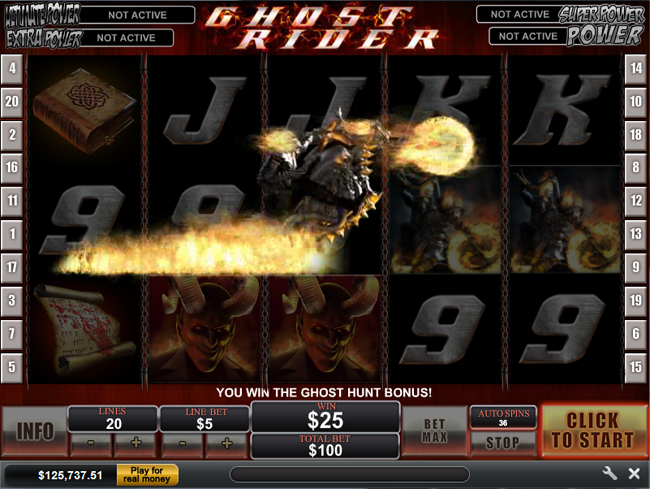 free Ghost Rider slot bonus feature