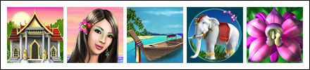 free Thai Paradise slot game symbols
