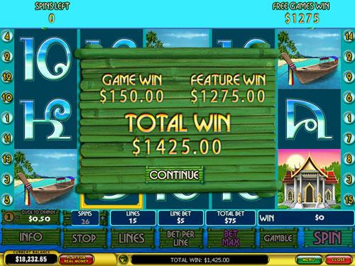 free Thai Paradise free games total prize