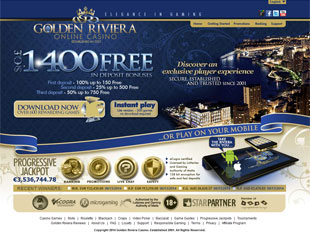 Golden Riviera Casino Home