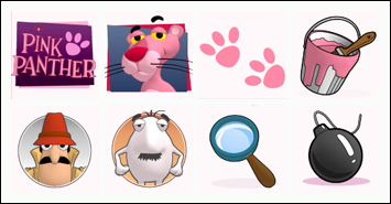 free Pink Panther slot game symbols