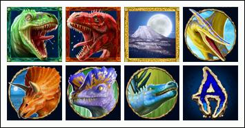 free Megasaur slot game symbols