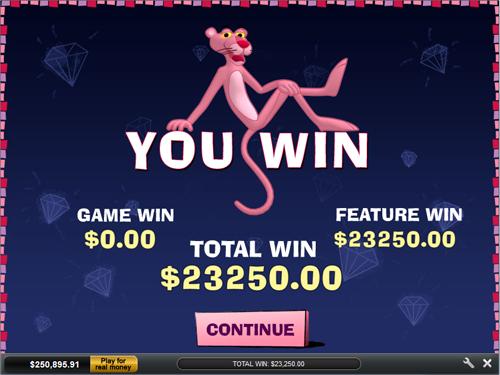 free Pink Panther Win