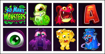 free So Many Monsters slot game symbols
