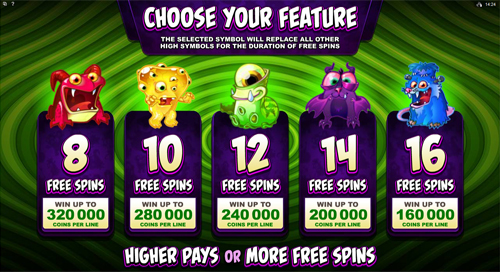 free So Many Monsters Free Spins Feature