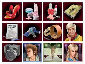 free High Fashion slot game symbols
