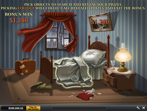 free Sherlock Mystery crime scene bonus