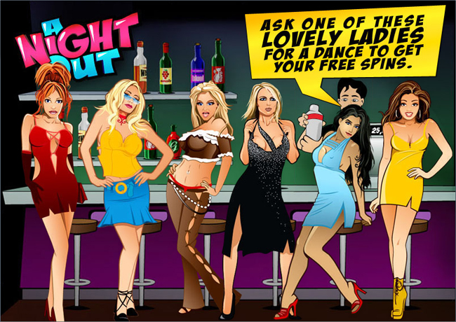 free A Night Out slot bonus feature