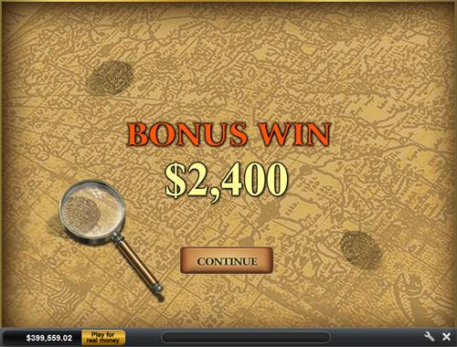 free Sherlock Mystery bonus game win