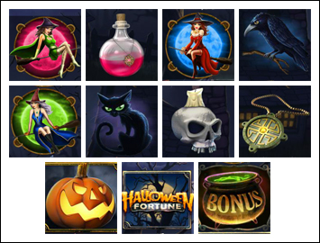 free Halloween Fortune slot game symbols