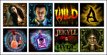 free Jekyll and Hyde slot game symbols