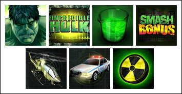 free Incredible Hulk 50 Lines slot game symbols