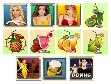 free A Night Out slot game symbols