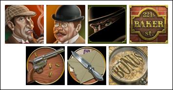 free Sherlock Mystery slot game symbols