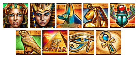 free Cat Queen slot game symbols
