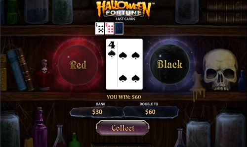 free Halloween Fortune gamble feature