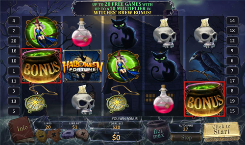 free Halloween Fortune bonus feature