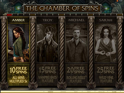free Immortal Romance free spins feature