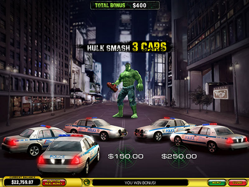 free Incredible Hulk 50 Lines car bonus stage