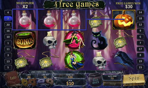 free Halloween Fortune free spins
