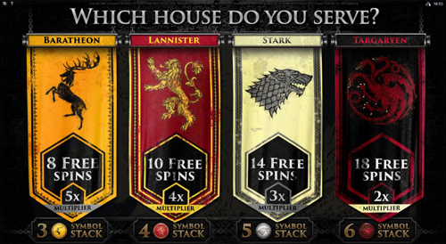 free Game of Thrones - 15 Lines bonus features