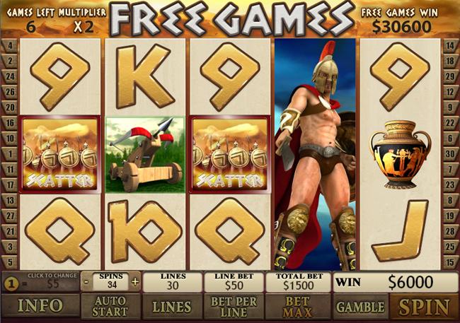 free Sparta slot bonus feature