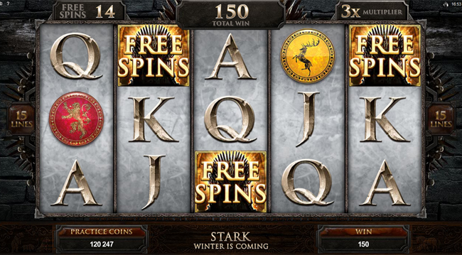 free Game of Thrones - 15 Lines slot bonus feature