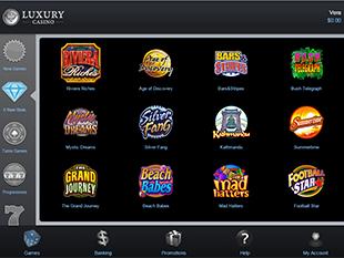 Luxury Mobile Casino Lobby