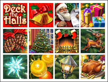 free Deck the Halls slot game symbols