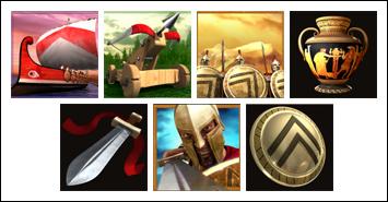 free Sparta slot game symbols