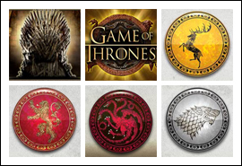 free Game of Thrones - 15 Lines slot game symbols