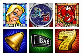 free Angel or Devil slot game symbols