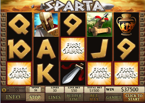 free Sparta free spins feature