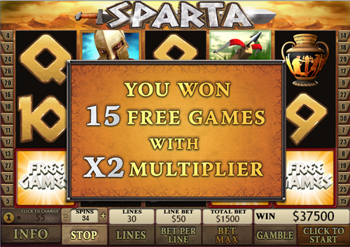 free Sparta free games feature win