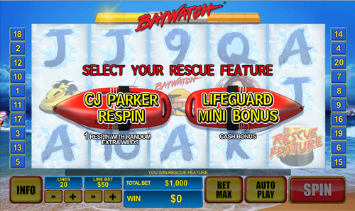 free Baywatch Bonus Choice - Rescue Features