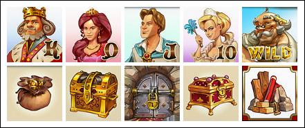 free Castle Builder slot game symbols