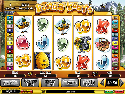 free Bonus Bears free spins feature