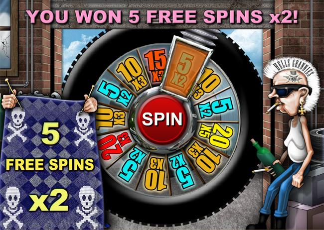 free Hells Grannies slot bonus feature