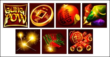 free Gung Pow slot game symbols