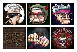 free Hells Grannies slot game symbols