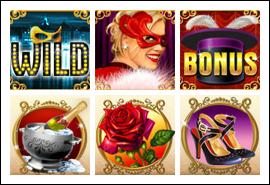 free La Chatte Rouge slot game symbols