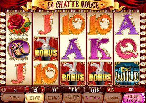 free La Chatte Rouge bonus game feature